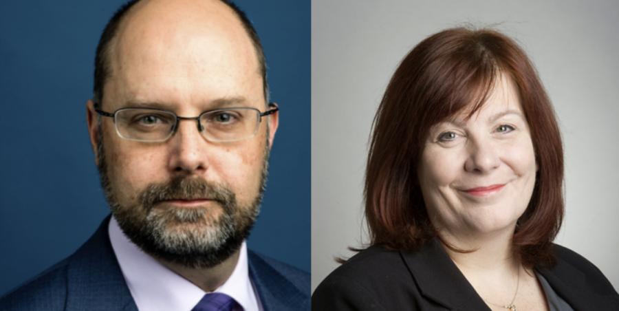 Ken Henderson (left) and Madeleine Estabrook (right).