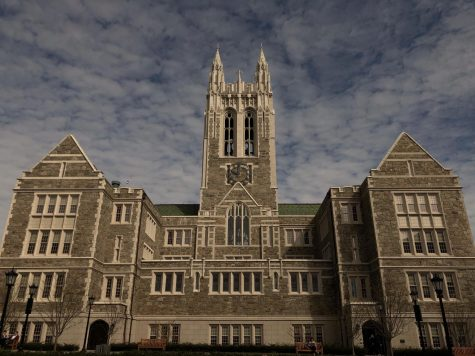 Gasson Hall on the campus of Boston College.