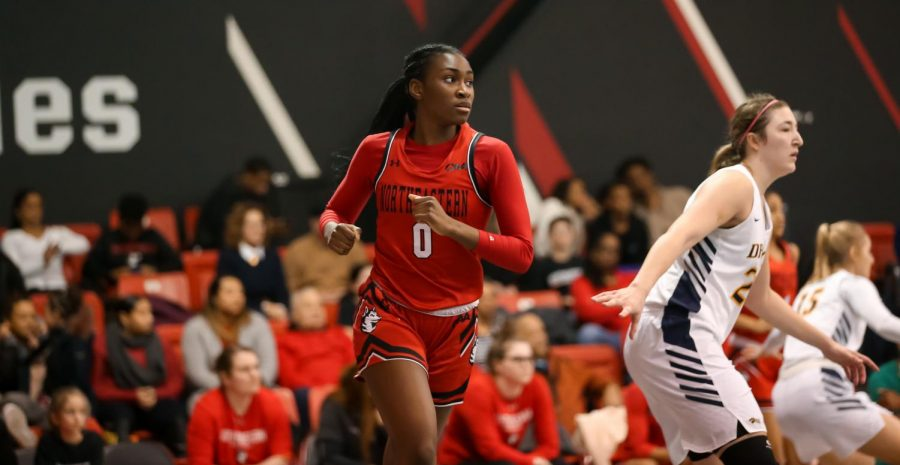 Sophomore forward Mide Oriyomi led her rookie class in scoring average (5.2 points) and minutes per game (15.9 minutes).