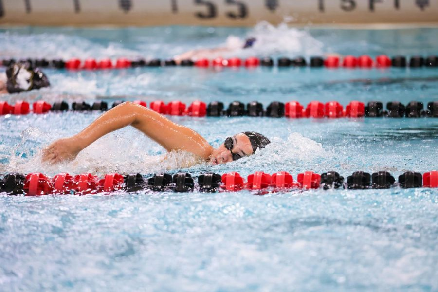 Senior swimmer Cloe Bedard-Khalid is excited to be back in the pool with new COVID-19 restrictions.