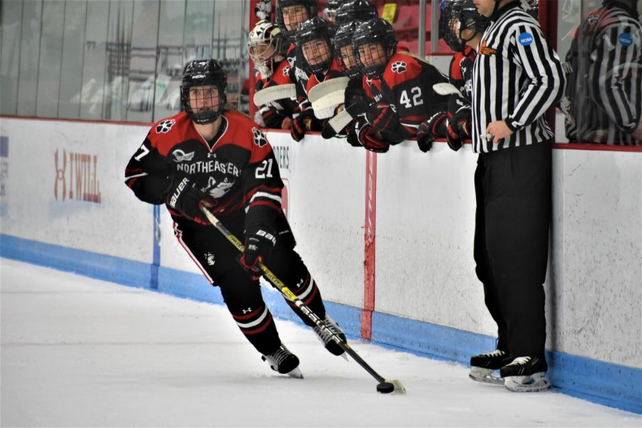 The women's hockey team was one of the five varsity teams that had clusters of positive COVID-19 cases, resulting in the postponement of winter sports until Dec. 18.