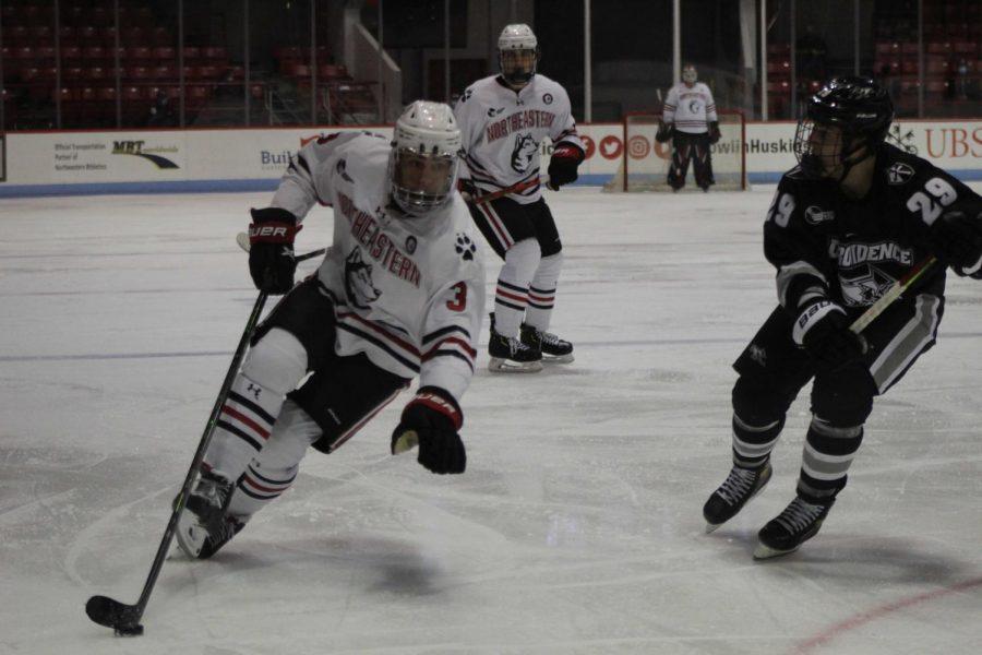 Men's Ice Hockey team split in weekend against tough opponent Providence.