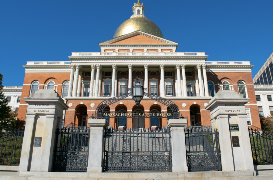 The Massachusetts State House, located in Beacon Hill.