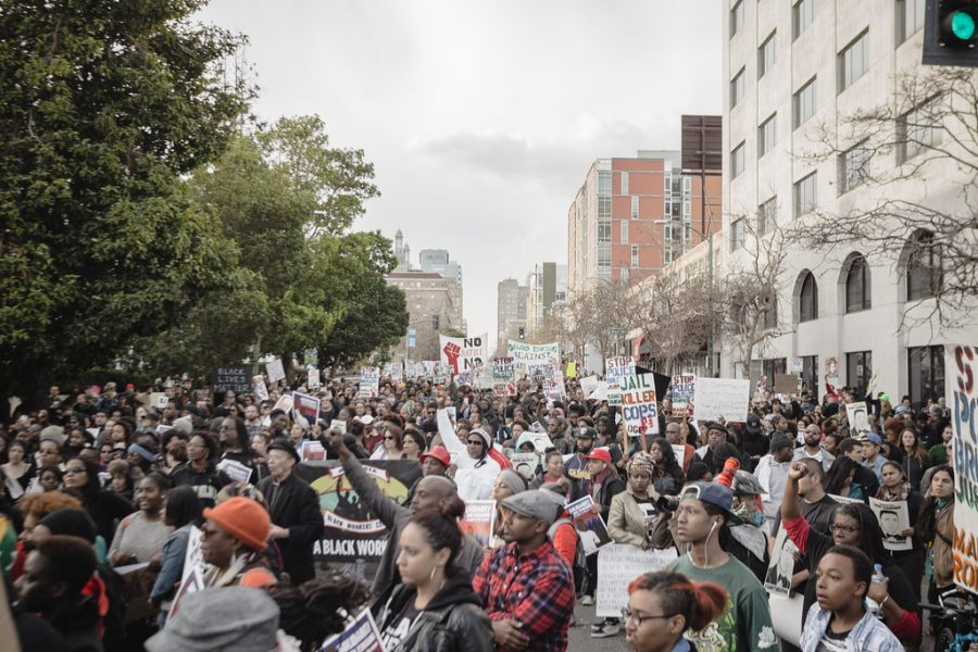 Americans across the country protested against racial injustice.