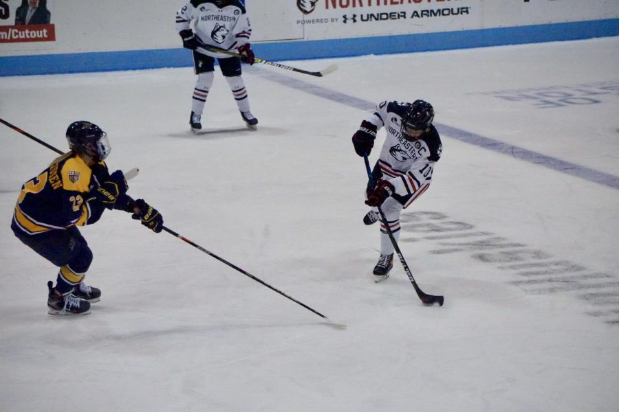 NU women's hockey defeat Merrimack again 5-0 Friday afternoon.