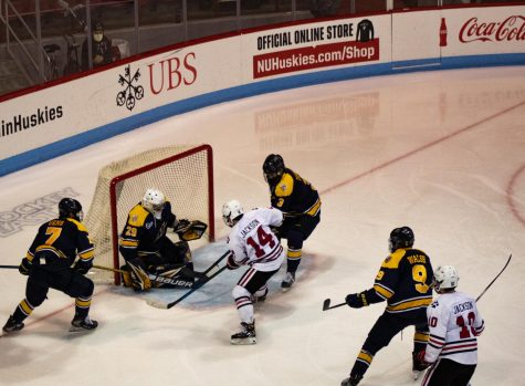 The Huskies sweep Merrimack this weekend in home-and-home series.