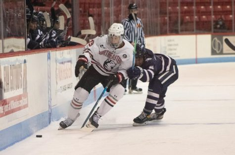 The Huskies beat UNH 7-0 Wednesday despite absence from head coach Jim Madigan and freshman goaltender Devon Levi.