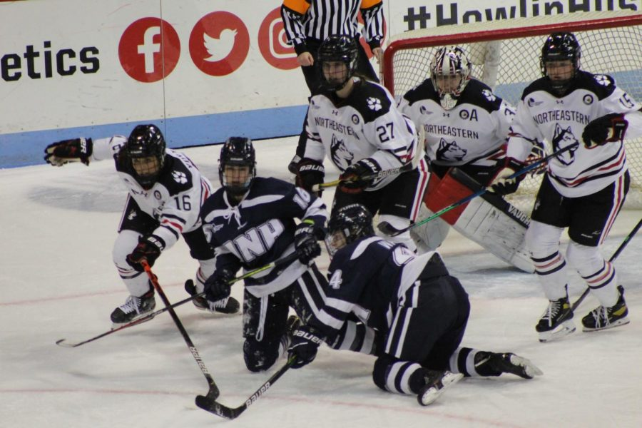 The Huskies defended well, allowing UNH just one goal in their win Friday night.