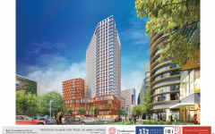 Northeastern presented this illustration of the 840 Columbus Ave. proposal to the Boston Planning and Development Agency September 22, 2020.