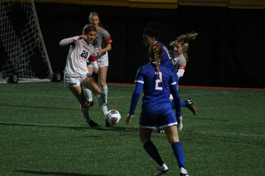 Northeastern women's soccer team ends scoreless drought as they win to UMass Lowell 2-0 Thursday night.
