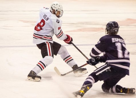 NU Mens hockey win against UNH 6-2 in the first game of the weekend, after a two-game losing streak