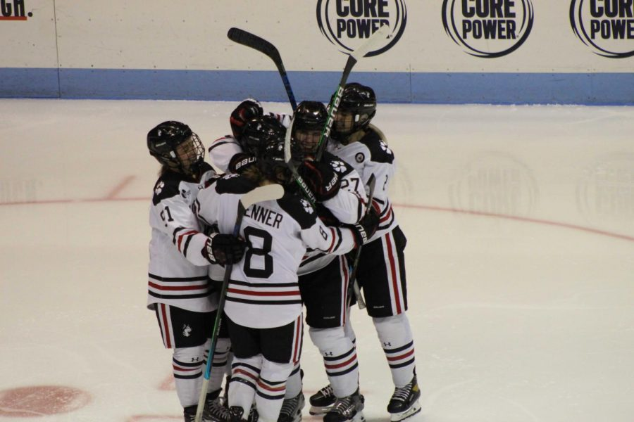 The Huskies notched six goals on the day in their thrashing of UNH.