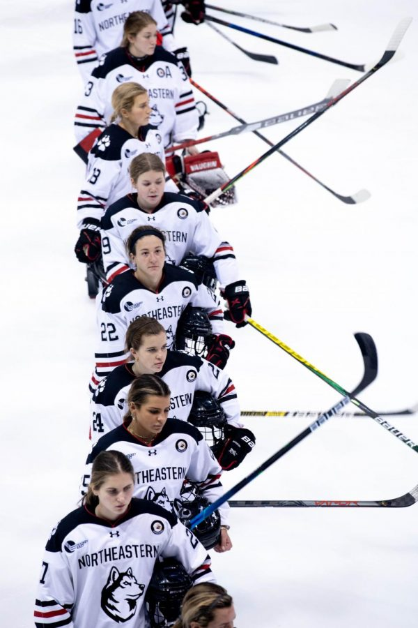 NU+women%27s+hockey+will+face+UNH+in+the+quarterfinals+of+the+Hockey+East+tournament+Sunday.++