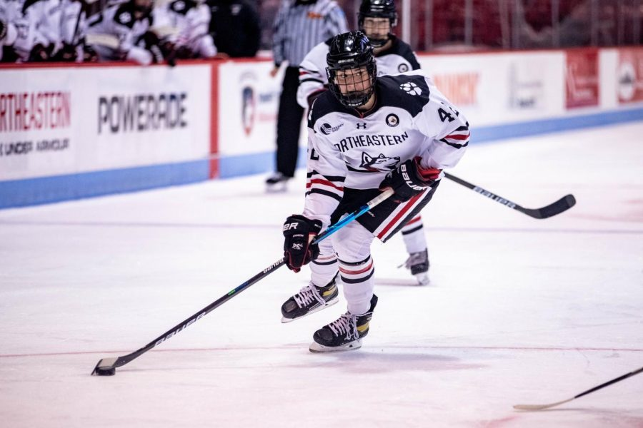 The Huskies are on a 11-game winning streak as they dominated Sunday against UNH, 4-1