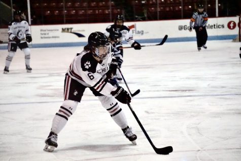 Northeastern womens hockey against Providence College in 2021.