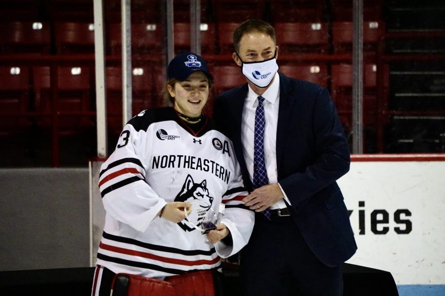 Husky senior netminder Aerin Frankel won the 2021 Patty Kazmaier Award, taking home top honors in women's college hockey.