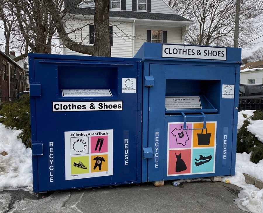 The Helpsy clothing donation bins in Jamaica Plains offer community members another way — aside from thrift stores and landfills — to dispose of their old clothes.