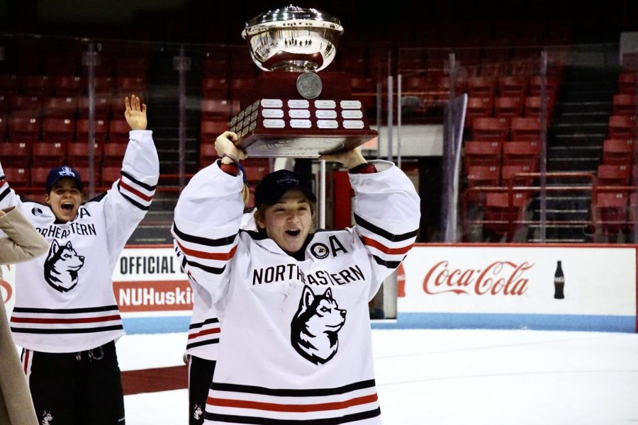 The Northeastern women's hockey team wins the Hockey East tournament, beating Providence 6-2 Saturday evening.