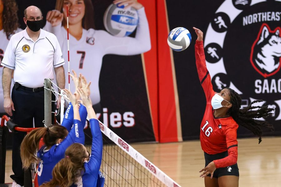 Northeastern swept Hofstra Sunday afternoon in second game of the home-and-home series, winning 3-1.