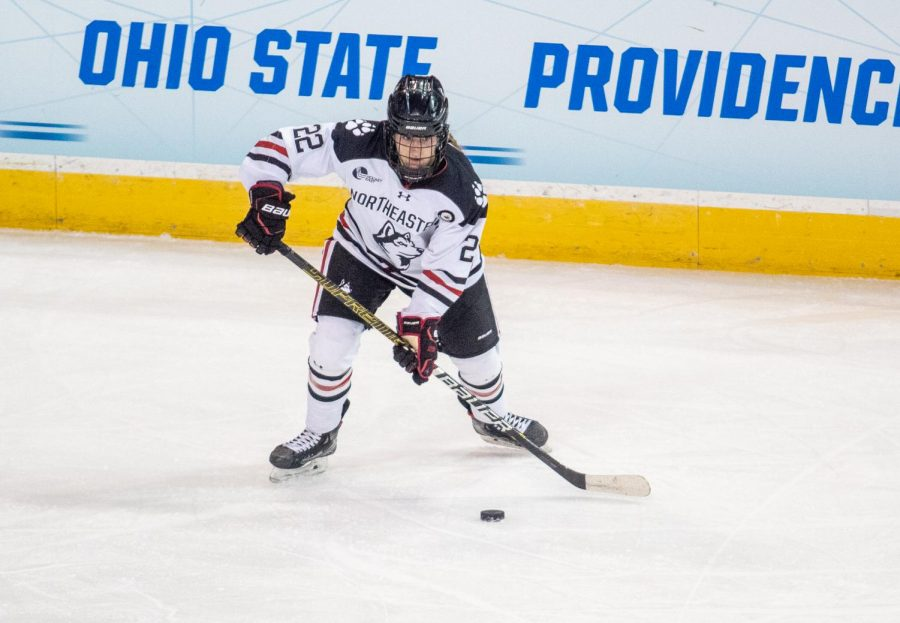 The Northeastern Huskies, entering the Frozen Four for the first time, will face Minnesota Duluth in the semifinals of the NCAA tournament Thursday afternoon.