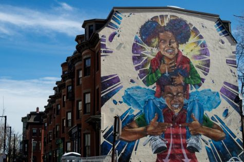 """Breathe Life 3,"" a Roxbury mural by Rob ""ProBlak"" Gibbs, showcases the talent and vision of just one of many Bostonian creatives of color."