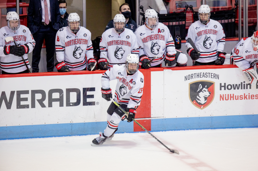 The Northeastern men's hockey team falls to Boston College, 4-2, ranking sixth in the Hockey East Power Index.