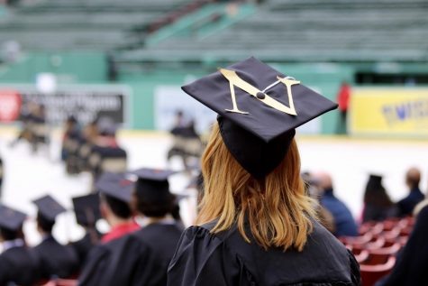 Northeastern held their in-person graduation ceremony for students Saturday at Fenway Park.