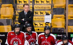 Jim Madigan will become the new director of athletics after coaching mens hockey for ten years at Northeastern.