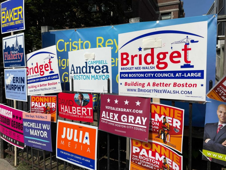 campaign signs boston election 2021 September 15