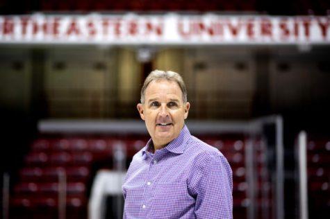 Athletic director Jim Madigan in Matthews Arena.