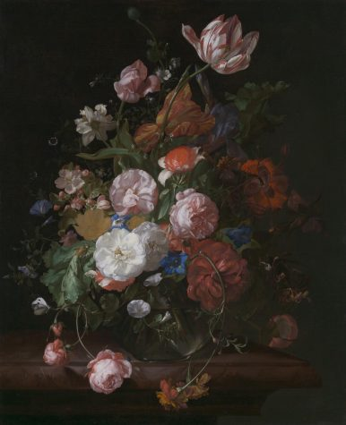 Still Life with Flowers, (1709) by Rachel Ruysch is one of the paintings included in the CNA, or Center for Netherlandish Art. Photo courtesy of the Museum of Fine Arts.