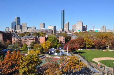 South End Skyline, Fall - Boston by Massachusetts Office of Travel & Tourism is licensed under CC BY-ND 2.0