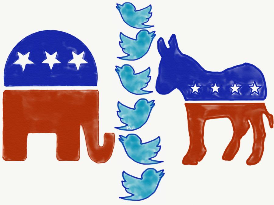 Social media polarizes society through political posts.