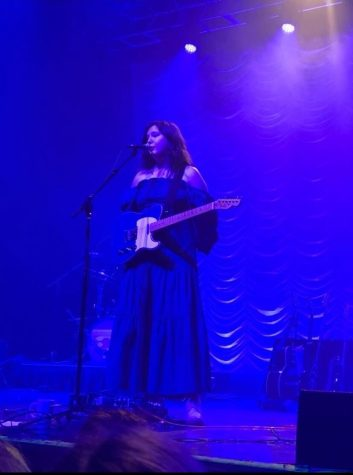 Lucy Dacus onstage at House of Blues Boston.