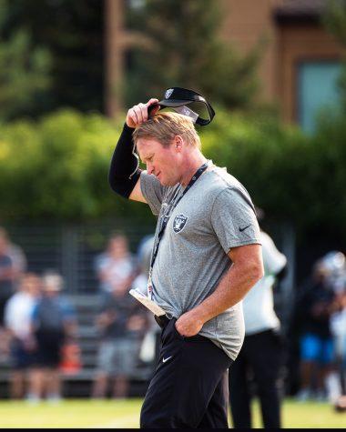 Former Raiders Head Coach Jon Gruden, 180807-F-LI975-0204 by Official Travis AFB, Calif. is licensed under CC BY-NC 2.0